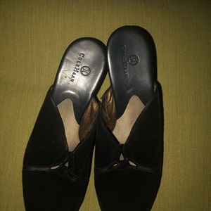 Used Authentic Suede ColeHaan Studded Mules